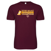 Next Level SoftStyle Maroon T Shirt-2018 Womens XC MAAC Champions