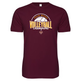 Next Level SoftStyle Maroon T Shirt-2018 MAAC Volleyball Champions