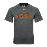 College  Under Armour Carbon Heather Tech Tee-Arched Iona College Gaels