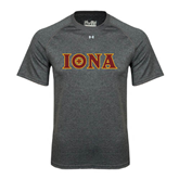 Under Armour Carbon Heather Tech Tee-Iona Wordmark
