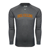 College  Under Armour Carbon Heather Long Sleeve Tech Tee-Arched Iona College