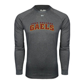 College  Under Armour Carbon Heather Long Sleeve Tech Tee-Arched Iona College Gaels