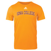 Adidas Gold Logo T Shirt-Arched Iona College