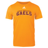 Adidas Gold Logo T Shirt-Arched Iona College Gaels