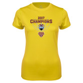 Ladies Syntrel Performance Gold Tee-MAAC Mens Basketball Champs