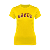 College  Ladies Syntrel Performance Gold Tee-Arched Iona College Gaels