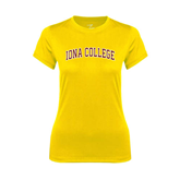 College  Ladies Syntrel Performance Gold Tee-Arched Iona College