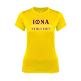Ladies Syntrel Performance Gold Tee-Athletics
