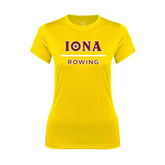 Ladies Syntrel Performance Gold Tee-Rowing
