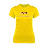Ladies Syntrel Performance Gold Tee-Swimming and Diving