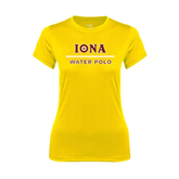 Ladies Syntrel Performance Gold Tee-Water Polo