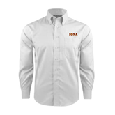 Red House White Long Sleeve Shirt-Iona Wordmark