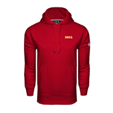 Under Armour Cardinal Performance Sweats Team Hood-Iona Wordmark