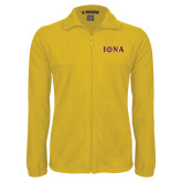 Fleece Full Zip Gold Jacket-Iona Wordmark