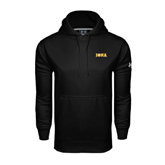 Under Armour Black Performance Sweats Team Hoodie-Iona Wordmark