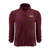 Fleece Full Zip Maroon Jacket-Iona Wordmark