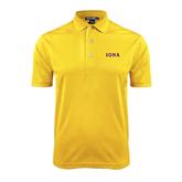 Gold Dry Mesh Polo-Iona Wordmark
