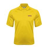 Gold Dri Mesh Pro Polo-Iona Wordmark