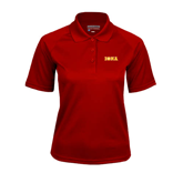 Ladies Cardinal Textured Saddle Shoulder Polo-Iona Wordmark