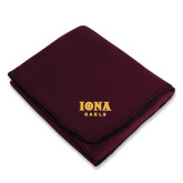 Maroon Arctic Fleece Blanket-Official Logo