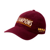 Maroon Flexfit Mid Profile Hat-2018 Mens Basketball Champions
