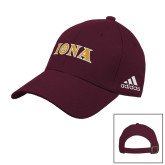 Adidas Maroon Slouch Unstructured Low Profile Hat-Iona Wordmark
