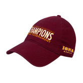 Maroon Twill Unstructured Low Profile Hat-2018 Mens Basketball Champions