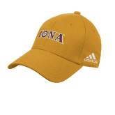 Adidas Gold Slouch Unstructured Low Profile Hat-Iona Wordmark