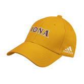 Adidas Gold Structured Adjustable Hat-Iona Wordmark