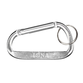 Silver Carabiner with Split Ring-Iona Wordmark Engraved
