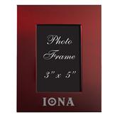 Maroon Brushed Aluminum 3 x 5 Photo Frame-Iona Wordmark Engraved