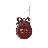 Maroon Bulb Ornament-Official Logo Engraved