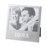 Silver 5 x 7 Photo Frame-Iona Wordmark Engraved