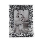 Silver Textured 4 x 6 Photo Frame-Iona Wordmark Engraved