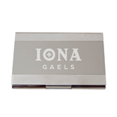 Dual Texture Silver Business Card Holder-Official Logo Engraved