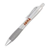 Metallic Mykonos Silver Pen-Iona Wordmark