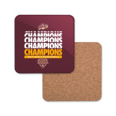 Hardboard Coaster w/Cork Backing-MAAC Mens Basketball Champs