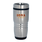 Rolling Ridges Silver Stainless Tumbler 16oz-Official Logo