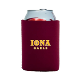Collapsible Maroon Can Holder-Official Logo