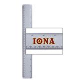 12 Inch White Plastic Ruler-Iona Wordmark
