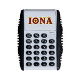 White Flip Cover Calculator-Iona Wordmark