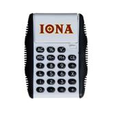 White Flip Cover Calculator-Iona Wordmark