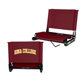 Stadium Chair Maroon-Arched Iona College