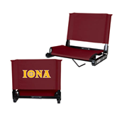 Stadium Chair Maroon-Iona Wordmark