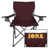 Deluxe Maroon Captains Chair-Iona Wordmark