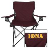 Deluxe Maroon Captains Chair-Iona Wordmark