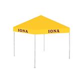 9 ft x 9 ft Gold Tent-Iona Wordmark