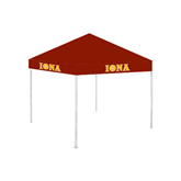 9 ft x 9 ft Cardinal Tent-Iona Wordmark