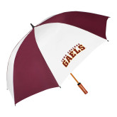 62 Inch Maroon/White Umbrella-Arched Iona College Gaels