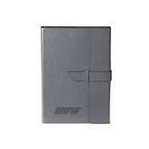 Fabrizio Junior Grey Portfolio w/Loop Closure-IPFW Engraved
